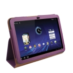Leather Case with Holder for Motorola Xoom (Purple)