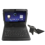 2 in 1 Bluetooth Keyboard + Folding Leather Protective Case for Motorola XOOM
