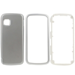 Full Housing Cover for Nokia 5230, with logo (Silver)