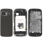 Full Housing Cover for Nokia 5800 With Full Touch-Screen, with logo (Black)