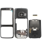4 in 1 (Mirror + Former Shell + Battery Cover + Small Parts) for Nokia N73, with logo (Black)