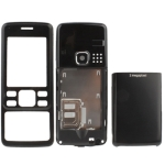 3 in 1 (Metal Front Shell + Metal Back Cover+ Battery Cover) for Nokia 6300, (Black)