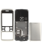 3 in 1 (Metal Front Shell + Metal Back Cover+ Battery Cover) for Nokia 6300, with logo (Silver)