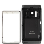 Metal Full Housing Cover for Nokia N8, with logo (Black)