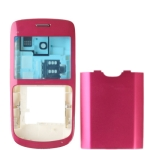 Full Housing Cover for Nokia C3, with logo (Rosy)