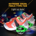 Flashing rollers, Light-up skate, Max Load: 45kg (Green)