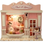 Creative Cherish a Lifetime Style DIY European Shop Mini House European Miniature Shop DIY Mini House with Light