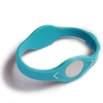 Baby Blue Silicon Wristband Bracelet, Size: 17.5cm(S)
