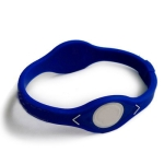 Blue Silicon Wristband Bracelet, Size: 19cm (M)
