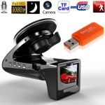 SH818 Black, 2.0 inch HD 1080P Car Driving Recorder DVR with E-dog Radar Detector G-sensor Car Black Box Camera Radar Detection Edog , Language: English