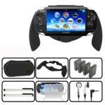 16 in 1 Pack Kit for Sony PS Vita (Game Grip + Touching Stylus + Headphones + Soft Card + Lens Cleaning Cloth + Neck Strap + Cloth Sling + Card Storage + EVA Bag + Whistle Pendant)