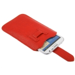Leather Case Pocket Pouch Sleeve Bag with Pull Tab for Samsung Galaxy Note II / N7100 / Galaxy Note / i9220 / N7000, Note LTE / N7005 (Red)
