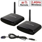 2.4GHz 4 Channels Wireless AV Transmitter & Receiver, Compatible with DVD, DVR, CCD Camera, IPTV, Satellite Set-Top Box and Other AV Output Devices, Support Infrared Remote Control, Maximum Transmission Distance: 350m
