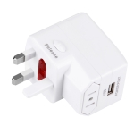 Plug Adapter, Universal Travel Adapter with Built-in USB Charger for US, UK, AU, EU