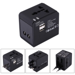 Plug Adapter, Universal US / EU / UK Power Connection Adaptor with USB Charger Socket