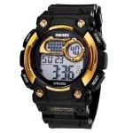 Кварцевые мужские часы SKMEI (Черный + Золото)