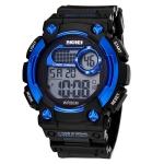 Кварцевые мужские часы SKMEI (Черный + Синий)