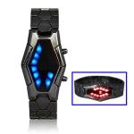 LED часы с синими и красными светодиодами (Черные)