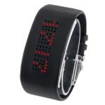 LED часы с красным светом (Черные)