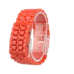 Пластиковые LED часы (Красные)