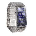 LED часы с голубой подсветкой