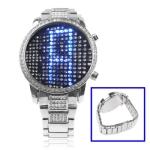 LED часы с голубой подсветкой Fancy Diamond