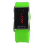 LED металлические часы с силиконовым ремешком (Светло-зеленые)