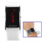 LED металлические часы с силиконовым ремешком (Белые)