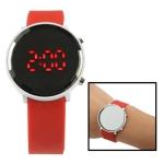 LED часы с силиконовым ремешком (Красные)