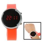 LED часы с силиконовым ремешком (Оранжевые)