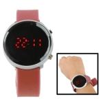 Металлические LED часы с силиконовым ремешком (Коричневые)