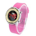 LED часы с силиконовым ремешком (Розовые)