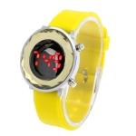 LED часы с силиконовым ремешком (Желтые)