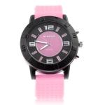 Кварцевые часы с силиконовым ремешком (Розовые)
