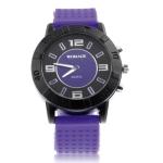 Кварцевые часы с силиконовым ремешком (Фиолетовые)