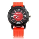Кварцевые часы с силиконовым ремешком (Красные)