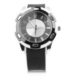 Кварцевые часы с силиконовым ремешком (Черные)