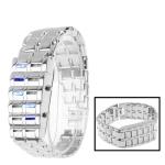LED часы из нержавеющей стали (Серебро)