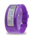 LED часы Mirror (Фиолетовые)