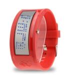 LED часы Mirror (Красные)