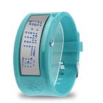 LED часы с силиконовым ремешком (Голубые)