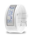 LED часы с силиконовым ремешком Mirror (Белые)