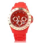 Спортивные силиконовые кварцевые часы (Красные)