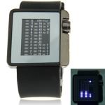 Металлические часы с силиконовым ремешком Mirror (Черные)