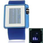 Металлические часы с силиконовым ремешком Mirror (Синие)