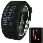 LED часы с силиконовым ремешком (Черные)