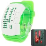 LED часы с силиконовым ремешком (Зеленые)