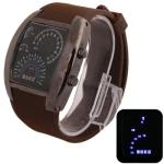 LED часы с силиконовым ремешком (Кофейные)