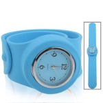 Silicon Quartz Snap Sport Wrist Watch (Blue)