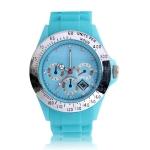 Водонепроницаемые спортивные кварцевые часы (Голубые)